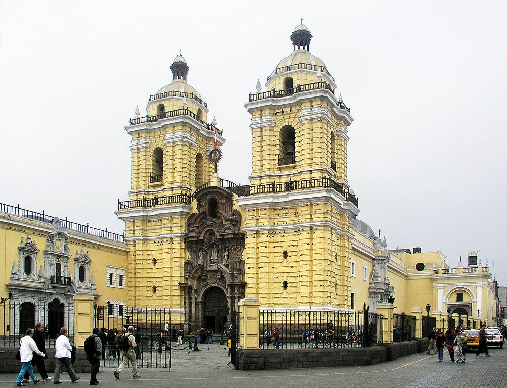 pérou - lima - basilique et le monastère  de Saint-François-d'Assise